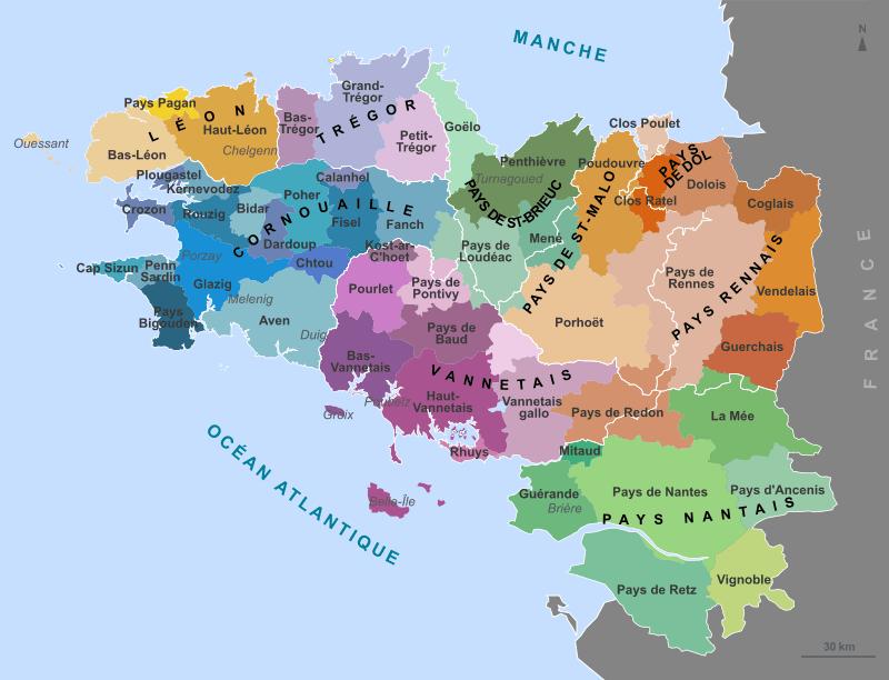 Harta ducatului de Bretania - foto preluat de pe ro.wikipedia.org