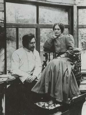 Leonid Andreyev and his second wife, Anna - foto preluat de pe en.wikipedia.org