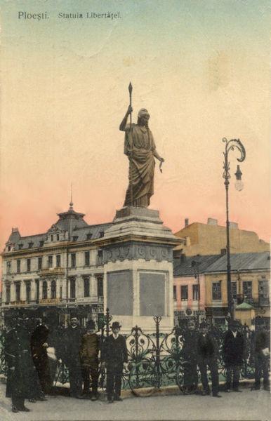 Statuia Libertăţii din Ploieşti, 1908 - foto preluat de pe ro.wikipedia.org