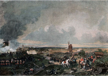 The Battle of Hondschoote 1793 Original typogravure by Boussod & Valadon after a painting by Eugène Lami. 1890 - foto: en.wikipedia.org