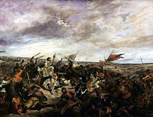 Bătălia de la Poitiers (19 septembrie, 1356) - Parte din Războiului de 100 de Ani) pictură realizată de Eugène Delacroix - foto preluat de pe en.wikipedia.org