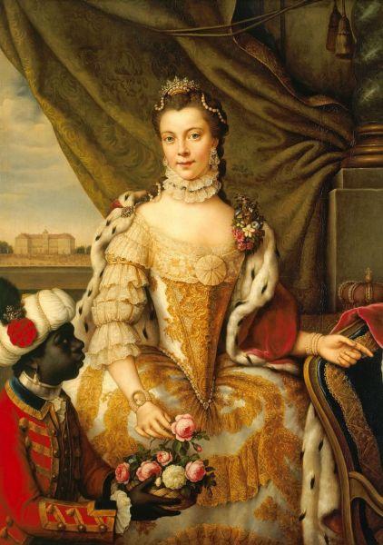 Charlotte de Mecklenburg-Strelitz (19 mai 1744 – 17 noiembrie 1818) a fost regină a Marii Britanii, soţia regelui George al III-lea al Regatului Unit -  Princess Charlotte by Johann Georg Ziesenis, c. 1761- foto: en.wikipedia.org