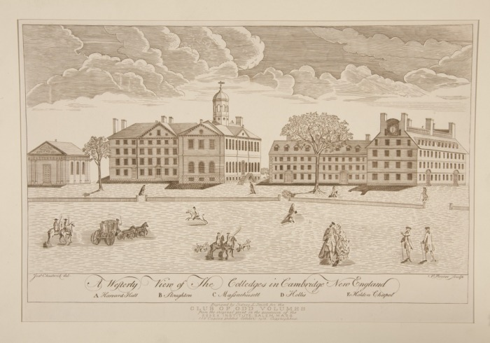 Engraving of Harvard College by Paul Revere, 1767 - foto: en.wikipedia.org