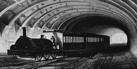 1863 Metropolitan Underground train - foto: jeseaward.co.uk