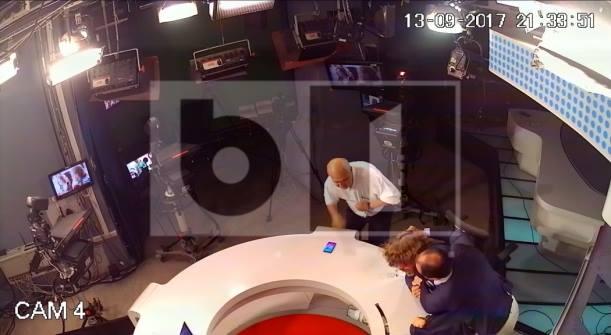 """Mihai Goțiu atacat de Mirel Palada în timpul pauzei publicitare a emisiunii """"Talk B1""""- foto: facebook.com"""