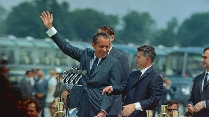 Richard Nixon si Nicolae Ceauşescu -  foto: historia.ro