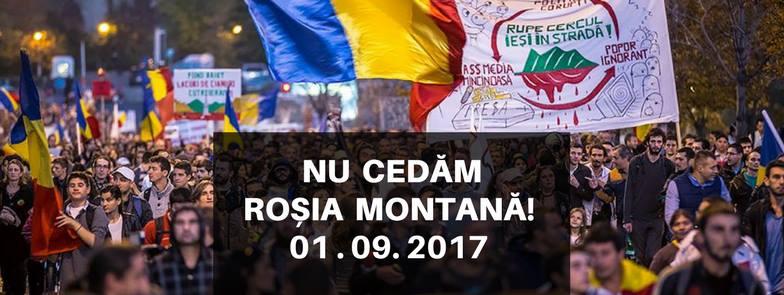 București: Nu cedăm Roșia Montană  - 1 septembrie 2017 - foto: facebook.com