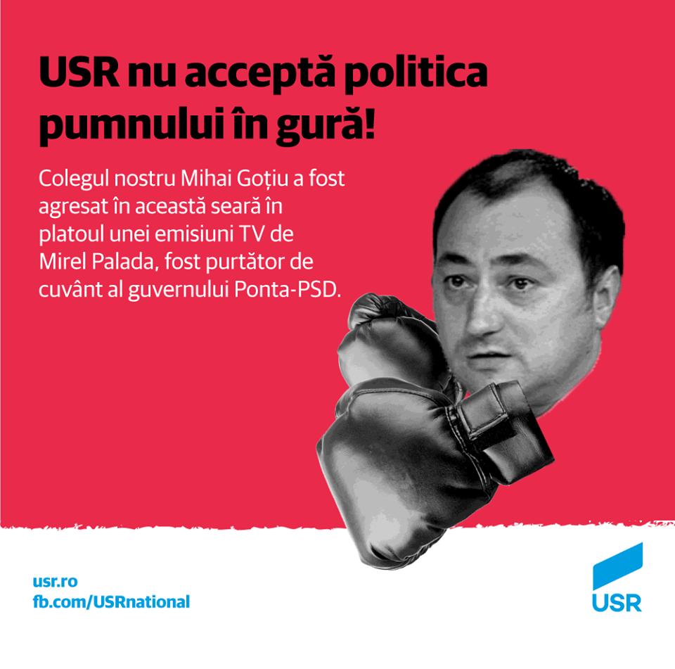 USR face un apel împotriva violenței în politică - foto: facebook.com
