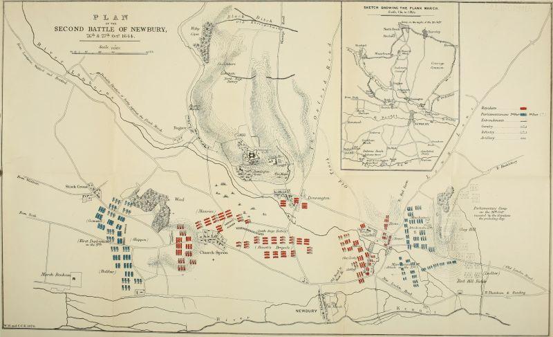 A Doua Bătălie de la Newburry (27 Octombrie 1644) - Planul bătăliei - foto preluat de pe en.wikipedia.org