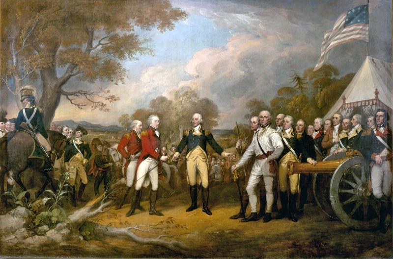 Bătălia de la Saratoga - Parte a Războiului de independență al Statelor Unite ale Americii - Capitularea generalului Burgoyne - foto preluat de pe ro.wikipedia.org