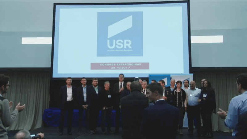 Congres extraordinar al Uniunii Salvați România pentru alegerea unui nou președinte - sâmbătă, 28 octombrie 2017, Hotel Piatra Mare, Poiana Brașov - foto captura video facebook.com