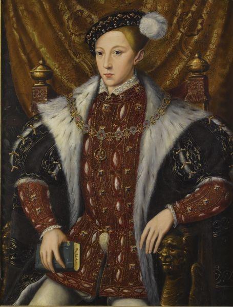 Eduard al VI-lea (n. 12 octombrie 1537 — d. 6 iulie 1553) a fost unul din regii Angliei - Eduard al VI-lea, de William Scrots, c. 1550 - foto preluat de pe en.wikipedia.org