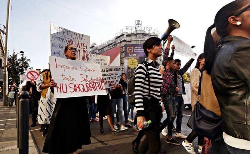 """Marșul """"Împreună pentru siguranța femeilor!"""" (14 octombrie 2017) - foto preluat de pe: http://epochtimes-romania.com"""