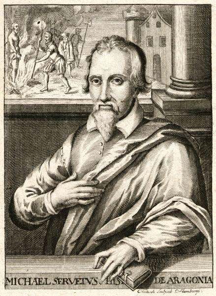 Miguel Servet (n. 29 septembrie 1511, Villanueva de Sijena, Aragon - d. 27 octombrie 1553, Geneva), născut Miguel Serveto, cunoscut și ca Miguel de Villanueva, a fost teolog, medic și umanist. Interesele sale cuprindeau numeroase științe: astronomia și meteorologia, geografia, jurisprudența, studiile biblice, matematica, anatomia și medicina. În medicină, Michel Servet a fost descoperitorul circulației pulmonare (mica circulație) - foto preluat de pe ro.wikipedia.org