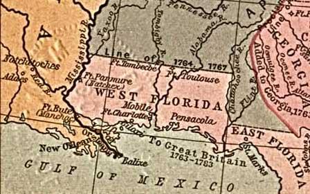 West Florida britanică, în 1767 - foto preluat de pe ro.wikipedia.org