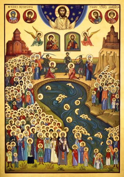 Icoana celor 100 000 de martiri georgieni, căzuți de sabie persană - foto: cubreacov.wordpress.com
