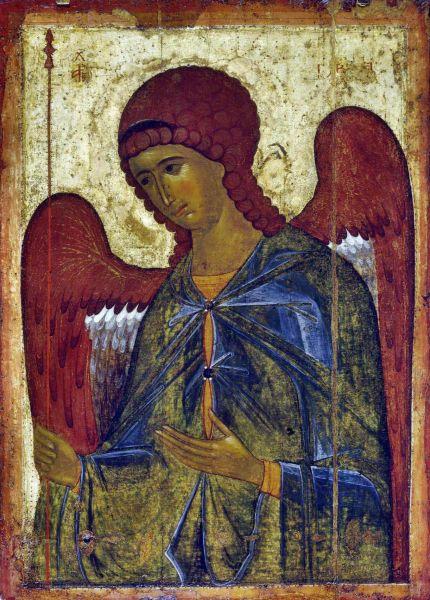 Icon of Gabriel, Byzantine, ca. 1387–1395 (Tretyakov Gallery) - foto preluat de pe ro.wikipedia.org