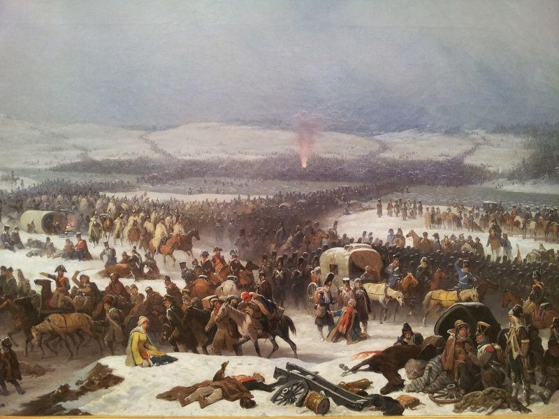 Bătălia de la Berezina (26 - 29 noiembrie 1812) - parte din războaiele napoleoniene - Campania din Rusia (1812) - (Napoleon's crossing of the Berezina an 1866 painting by January Suchodolski oil on canvas, National Museum in Poznań) - foto preluat de pe en.wikipedia.org