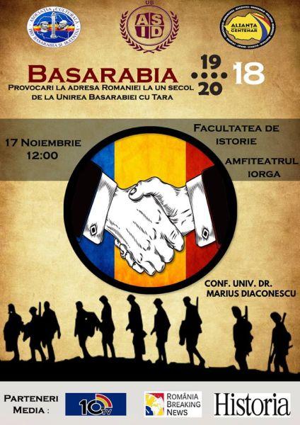 Conferința Basarabia 1918-2018 Provocări la adresa României privind Unirea - foto preluat de pe facebook.com