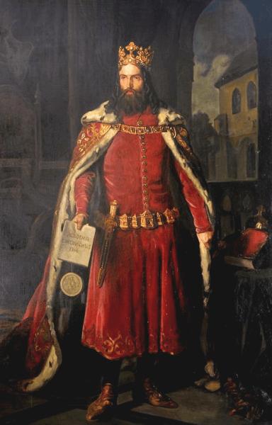 Cazimir al III-lea cel Mare (n. 30 aprilie 1310 – d. 5 noiembrie 1370), ultimul rege al Poloniei din dinastia Piast (1333–1370) - Casimir III the Great by Leopold Löffler - foto preluat de pe en.wikipedia.org