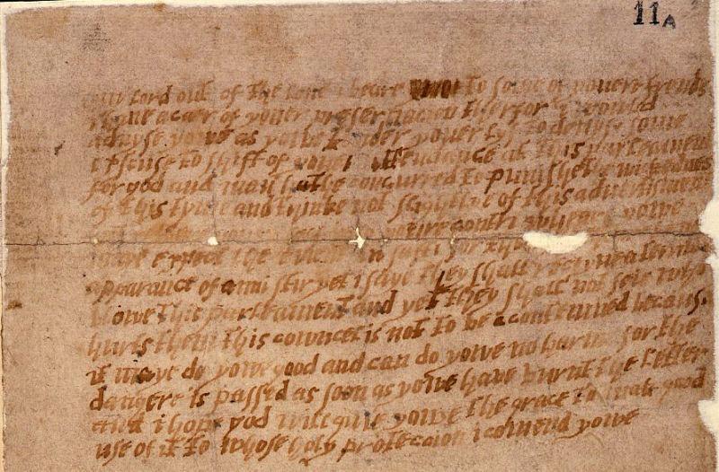 O scrisoare anonimă, trimisă lui William Parker, al IV-lea baron Monteagle, a jucat un rol esențial în dezvăluirea complotului. Identitatea autorului ei nu a fost niciodată stabilită cu exactitate, deși Francis Tresham a fost mult timp suspect. Monteagle însuși a fost considerat responsabil, ca și Salisbury - foto preluat de pe ro.wikipedia.org