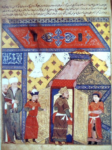 Mahmud Ghazan (1271– 11 May 1304) - Ghazan (center) was born as a Buddhist, and converted to Islam as part of a military agreement upon accession to the throne - foto preluat de pe en.wikipedia.org
