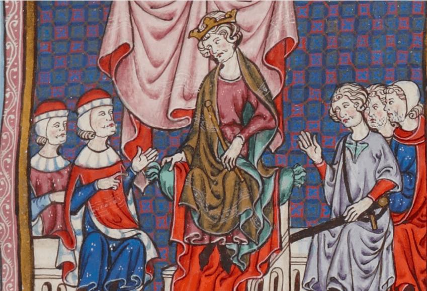 Iacob al II-lea (10 aprilie 1267 – 2 sau 5 noiembrie 1327), supranumit cel Drept, a fost rege al Siciliei (ca Iacob I) din 1285 până în 1296 și rege de Aragon și al Valenciei și Conte de Barcelona din 1291 până în 1327 - James, from a manuscript (BNF, Latin 4670 A) of the Catalan constitutions - foto preluat de pe en.wikipedia.org