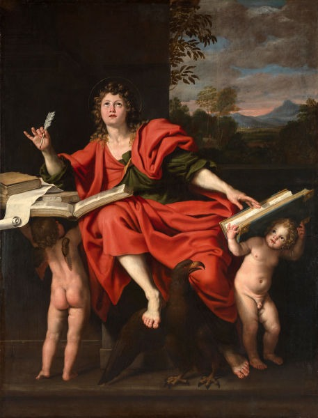 """St John the Evangelist"" by Domenichino (Domenico Zampieri), 1620 - foto preluat de pe en.wikipedia.org"