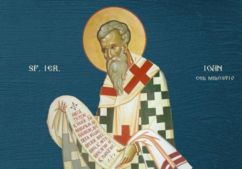 Sf. Ier. Ioan cel Milostiv, Patriarhul Alexandriei (†619/620) - foto preluat de pe ziarullumina.ro