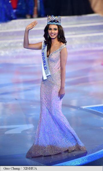 Manushi Chhillar, Miss Univers 2017 - foto preluat de pe www.agerpres.ro
