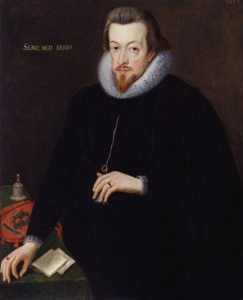 Robert Cecil, primul Conte de Salisbury.(1 June 1563? – 24 May 1612) - Pictură de John de Critz cel Bătrân, 1602 -  foto preluat de pe ro.wikipedia.org