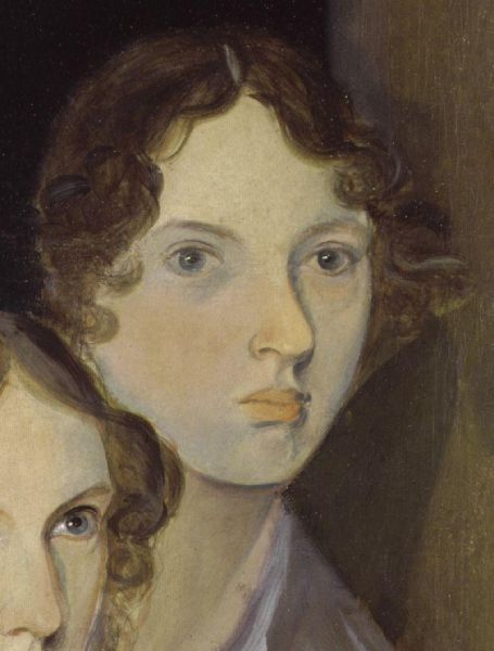 Emily Jane Brontë (n. 30 iulie 1818 - d. 19 decembrie 1848) a fost o scriitoare engleză, cunoscută mai ales pentru unicul ei roman, La răscruce de vânturi (The only undisputed portrait of Brontë, from a group portrait by her brother Branwell) - foto preluat de pe en.wikipedia.org