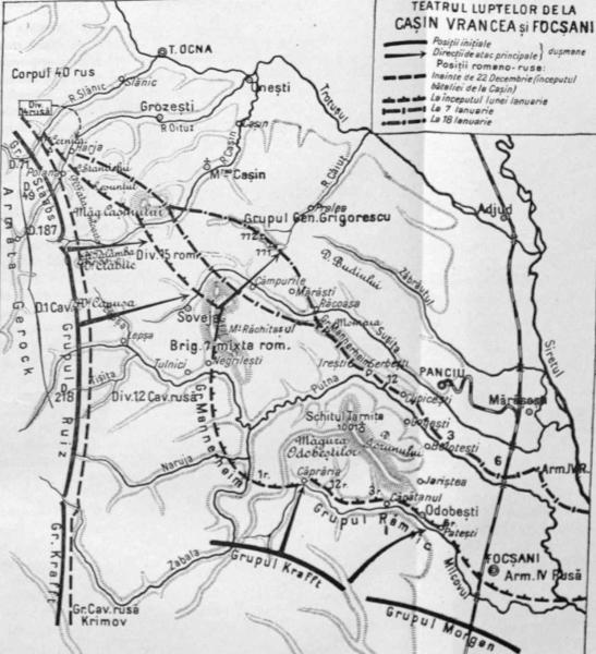 Lupta de la Cașin (9/22 decembrie - 18/31 decembrie 1916) Parte din Participării României la  Primul Război Mondial - foto preluat de pe ro.wikipedia.org