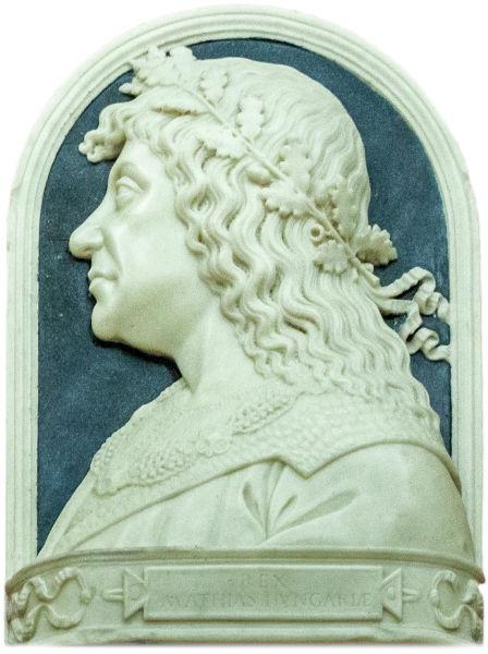 Matia Corvin (mai des Matei Corvin, n. 23 februarie 1443, Cluj - d. 6 aprilie 1490, Viena), născut Matia de Hunedoara, cunoscut și ca Mateiaș în cronicile Moldovei sau Matei Corvin a fost unul dintre cei mai mari regi ai Ungariei. A condus Regatul Ungariei între anii 1458-1490. A fost botezat după Sfântul Matia, apostol, nu după Matei Evanghelistul - foto preluat de pe ro.wikipedia.org