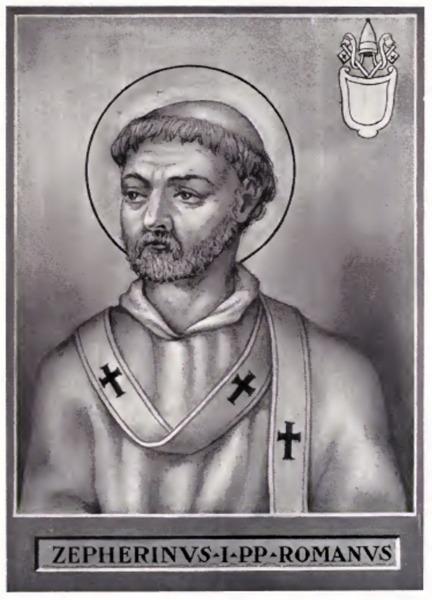 Pope Zephyrinus (died 20 December 217) was Bishop of Rome or Pope from 199 to his death in 217 - foto preluat de pe en.wikipedia.org