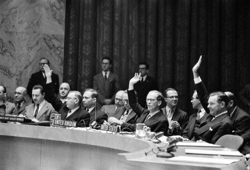 Security Council resolution 109 (1955) : Admission of new Members to the UN - foto preluat de pe research.un.org