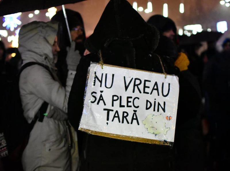 """Toate drumurile duc la Bucuresti. """"Revolutia"""" generatiei noastre (20 ianuarie 2018) - foto preluat de pe facebook.com"""