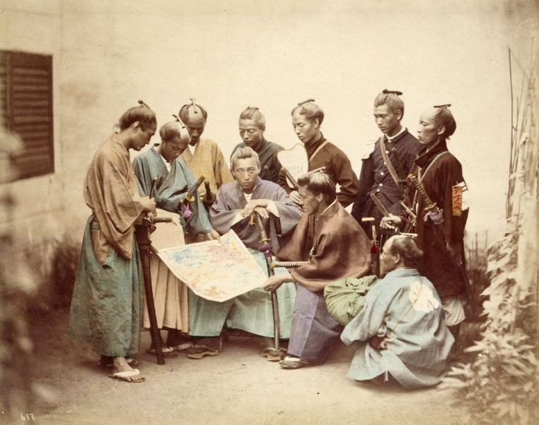 Samurai of the Chosyu clan, during the Boshin War period - foto preluat de pe ro.wikipedia.org