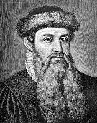 Johannes Gensfleisch zur Laden zum Gutenberg (n. 1398 – d. 3 februarie, 1468) a fost un metalurgist, bijutier și tipograf german care s-a remarcat prin contribuția sa la tehnologia tipăririi - foto preluat de pe ro.wikipedia.org