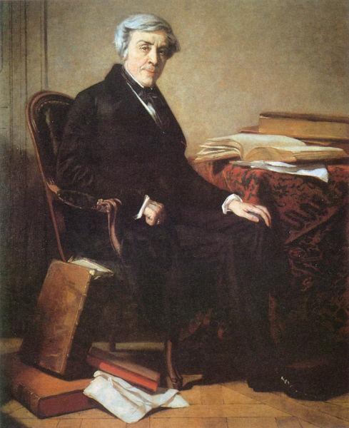 Jules Michelet (n. 21 august 1798, Paris - d. 10 februarie 1874, Hyères) a fost un reputat istoric francez, reprezentant al istoriografiei romantice - in imagine,  Jules Michelet, portret de Thomas Couture - foto preluat de pe ro.wikipedia.org