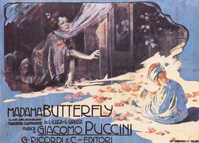 Madama Butterfly - Opera by Giacomo Puccini - Original 1904 poster by Adolfo Hohenstein - foto preluat de pe en.wikipedia.org
