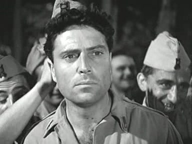 Raf Vallone (n. 17 februarie 1916, Tropea – d. 31 octombrie 2002, Roma) a fost un actor italian de film - in imagine, Vallone in Riso amaro (1949) - foto preluat de pe en.wikipedia.org