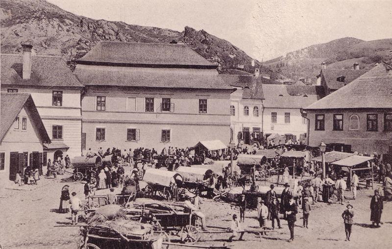 Roşia Montană la începutul secolului al XX-lea foto: Csiky Lajos, album Verespatak és környéke - foto preluat de pe arhitectura-1906.ro
