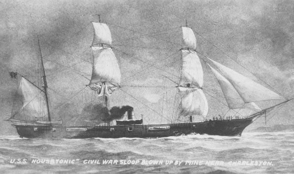 USS Housatonic (1861) - foto preluat de pe en.wikipedia.org