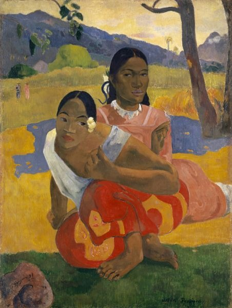 Paul Gauguin, When Will You Marry? Tahitian: Nafea faa ipoipo?? (1892, oil on canvas, 101 x 77 cm) - foto preluat de pe en.wikipedia.org