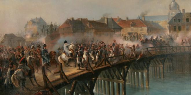 Napoleon at the bridge of Arcis-sur-Aube by Jean-Adolphe Beaucé - foto preluat de pe en.wikipedia.org