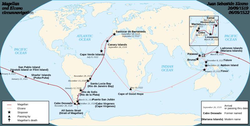 Călătoria Magellan–Elcano. Victoria, una din cele 5 corăbii inițiale, a înconjurat Pământul, revenind acasă peste 16 luni după moartea lui Magellan - foto preluat de pe ro.wikipedia.org