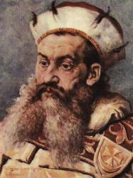 Henric I cel Bărbos (n. 1165/1170 - d. 19 martie 1238), a făcut parte din linia Dinastiei Silezia-Piast, a fost Duce de Silezia la Wrocław din 1201 şi Duce de Cracovia cât şi Mare Duce al Poloniei din 1232 până la moartea sa -in imagine, Henric I cel Bărbos - portret de Jan Matejko - foto preluat de pe ro.wikipedia.org