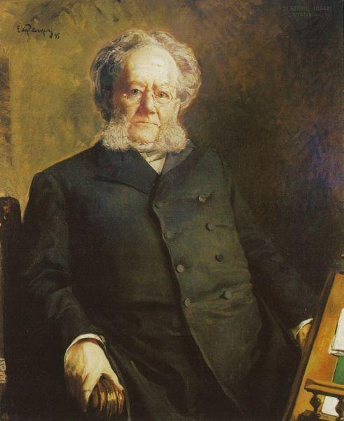 Henrik Ibsen av Eilif Peterssen 1895 - foto preluat de pe ro.wikipedia.org