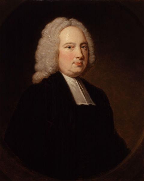 James Bradley (n. martie 1693 — d. 13 iulie 1762) a fost un astronom englez - in imagine, James Bradley by Thomas Hudson - foto preluat de pe ro.wikipedia.org